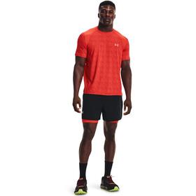 Under Armour Iso-Chill Run Printed Short Sleeve Shirt Men dark orange
